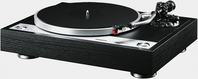 onkyo turntable. the cp-1050\u0027s body is constructed from thick, vibration-damping mdf (medium density fiberboard) used in most audiophile turntables and it features a smooth, onkyo turntable