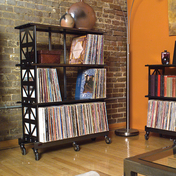 27 vinyl record storage and shelving solutions. Black Bedroom Furniture Sets. Home Design Ideas