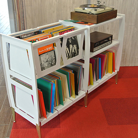 Way Basics Vinyl Record Album Storage Cubes