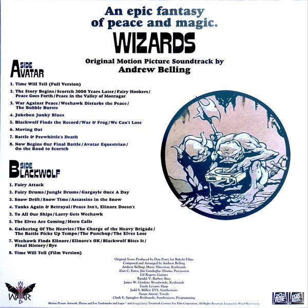 Andrew Belling -Wizards Original Motion Picture Soundtrack