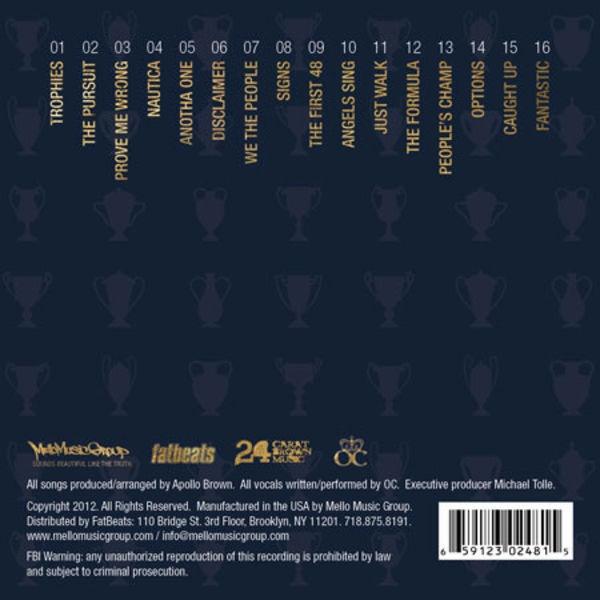 Apollo Brown Amp O C Trophies Colored Vinyl