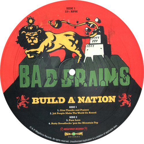 Bad Brains Build A Nation Colored Vinyl