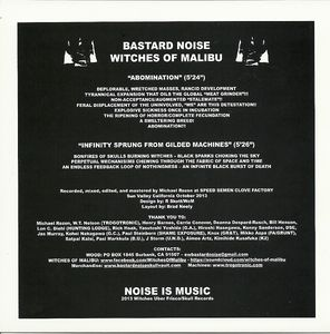 Bastard Noise & Witches Of Malibu - Bastard Noise / Witches Of Malibu