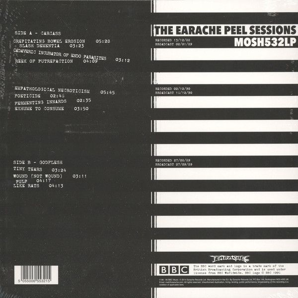 Carcass & Godflesh - Grind Madness At The BBC - The Earache Peel Sessions