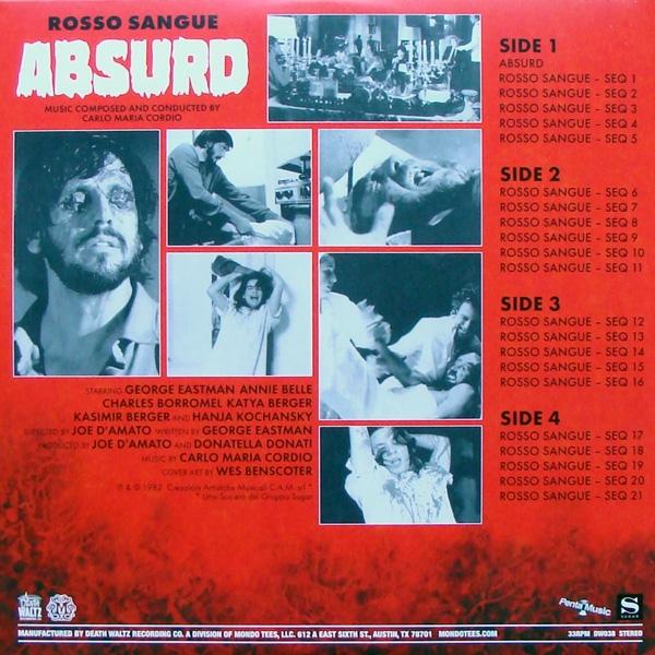 Carlo Maria Cordio - Absurd (Rosso Sangue)