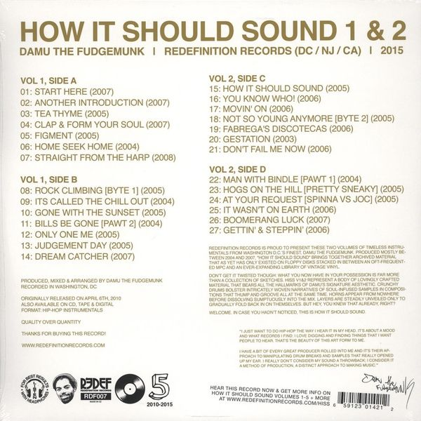 Damu The Fudgemunk -How It Should Sound Volume 1 & 2