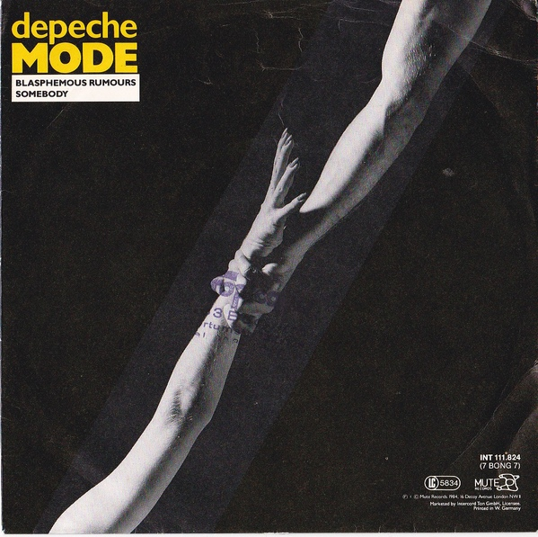 Depeche Mode Blasphemous Rumours Somebody Colored Vinyl
