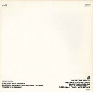 Depeche Mode - People Are People (Special Edition ON-USound Remix By Adrian Sherwood)