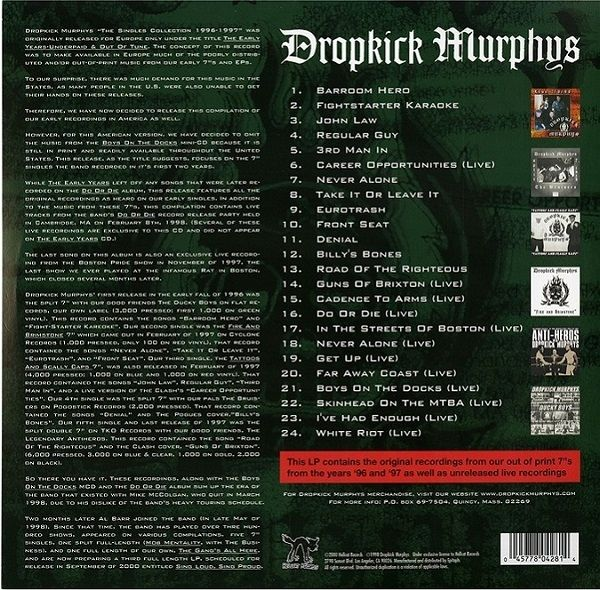 Dropkick Murphys - The Singles Collection, Volume 1: 1996-1997