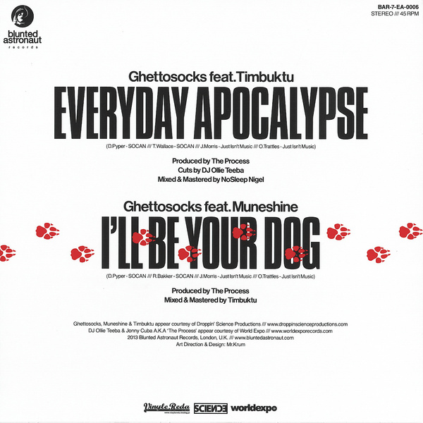 Ghettosocks - Everyday Apocalypse / I'll Be Your Dog