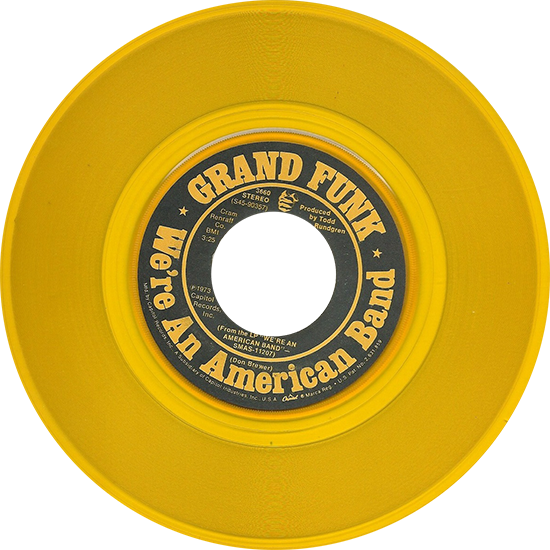 Grand Funk We Re An American Band Colored Vinyl