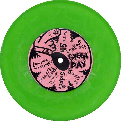 Green Day Slappy E P Colored Vinyl