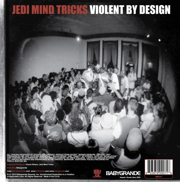 Jedi Mind Tricks Violent By Design Colored Vinyl