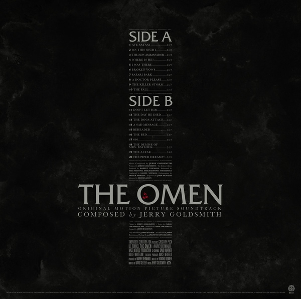 Jerry Goldsmith - The Omen - Original Motion Picture Soundtrack