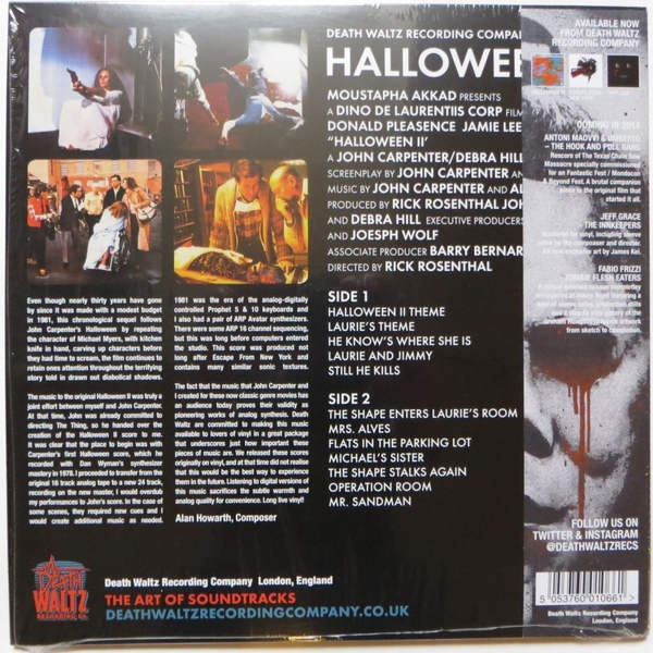 John Carpenter & Alan Howarth -Halloween II