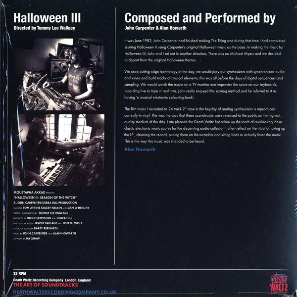 John Carpenter & Alan Howarth -Halloween III - Season Of The Witch