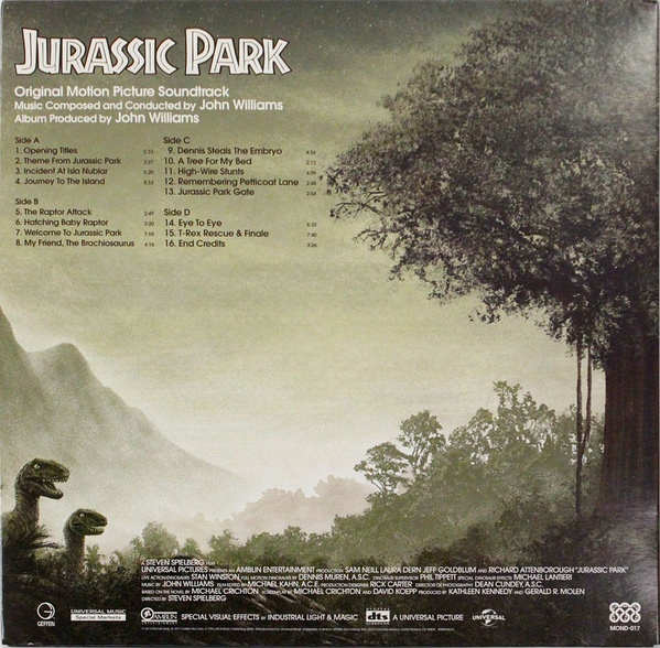 John Williams Jurassic Park Original Motion Picture
