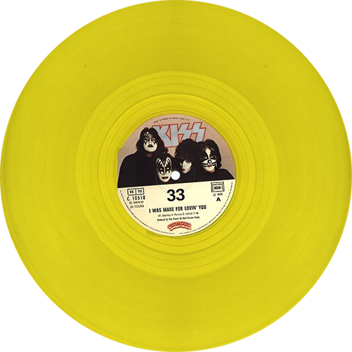 Kiss I Was Made For Lovin You Colored Vinyl
