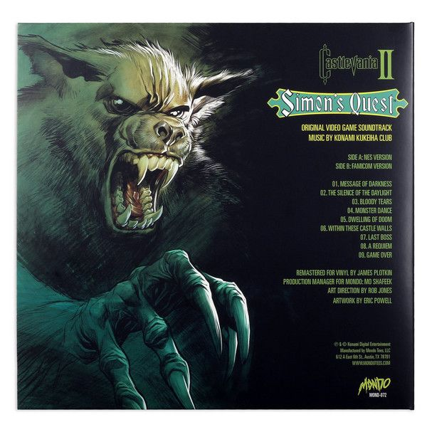 Konami Kukeiha Club - Castlevania II: Simon's Quest - Original Video Game Soundtrack