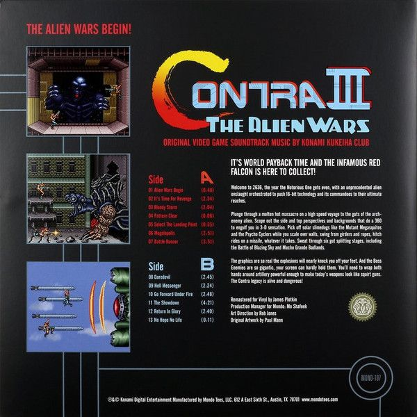 Konami Kukeiha Club - Contra III: The Alien Wars - Original Video Game Soundtrack