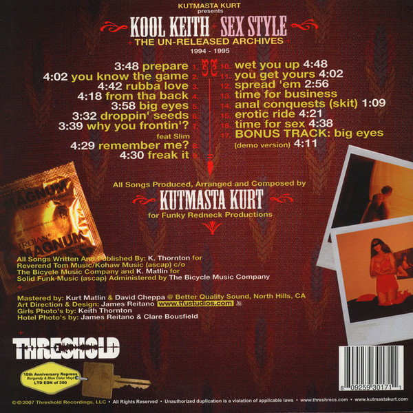Kut Masta Kurt & Kool Keith - Sex Style The Un-Released Archives