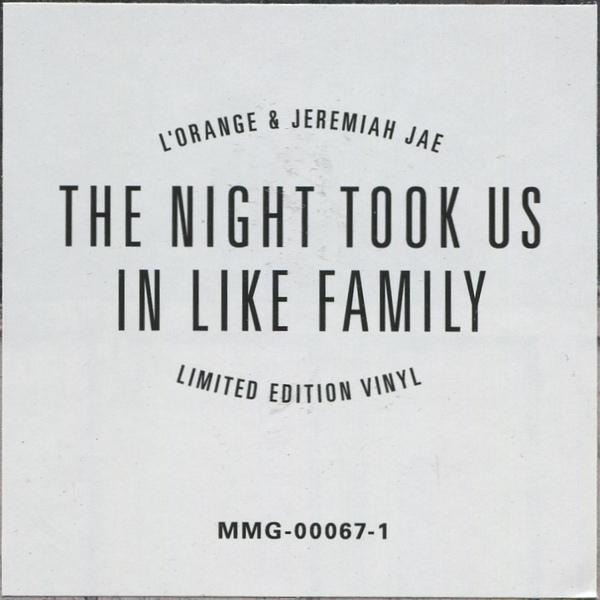 L'Orange & Jeremiah Jae - The Night Took Us In Like Family