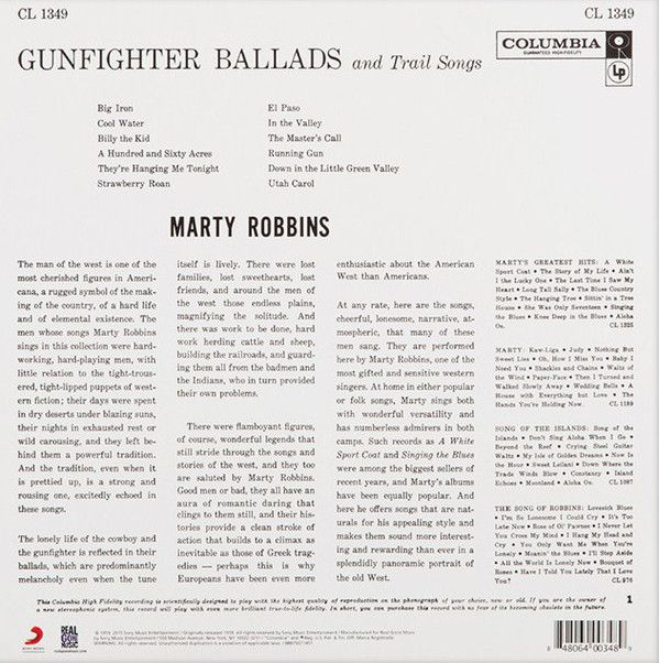 Marty Robbins -Gunfighter Ballads And Trail Songs