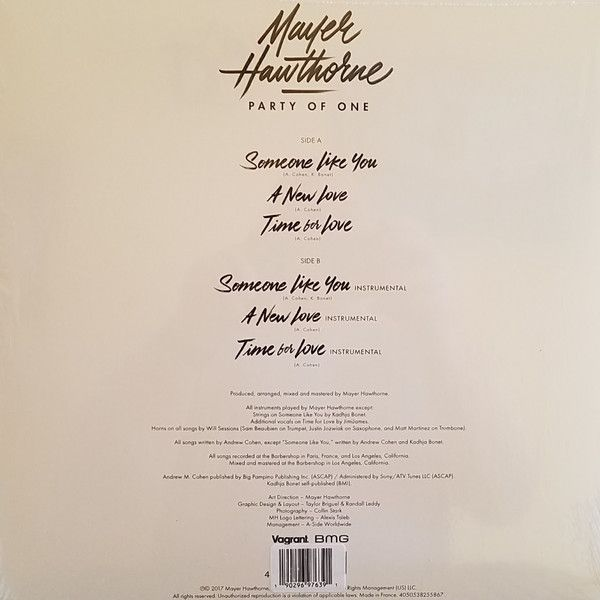 Mayer Hawthorne -Party Of One