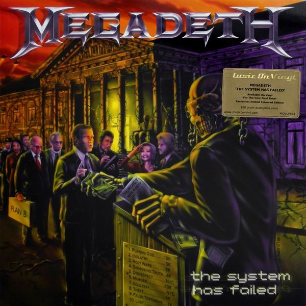 Megadeth The System Has Failed Colored Vinyl