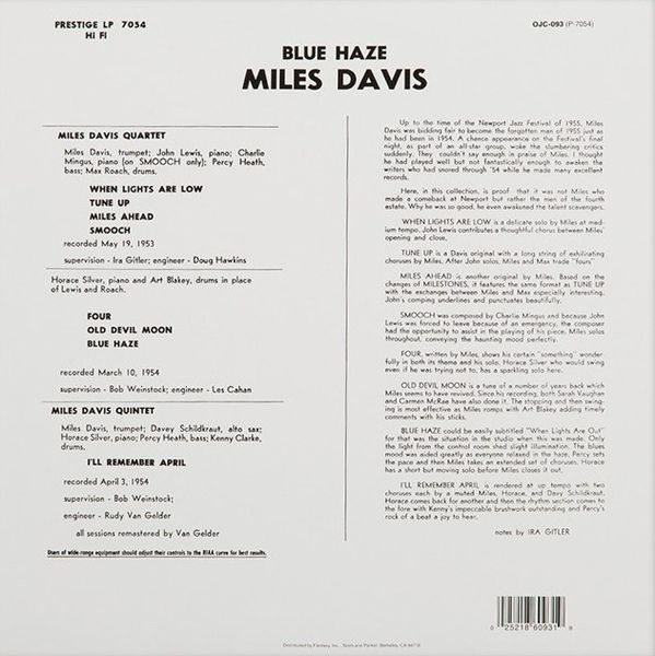 Miles Davis -Blue Haze