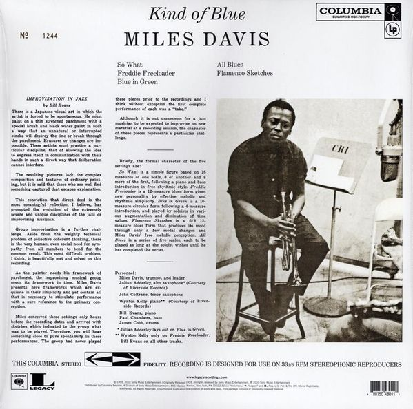 Miles Davis -Kind Of Blue