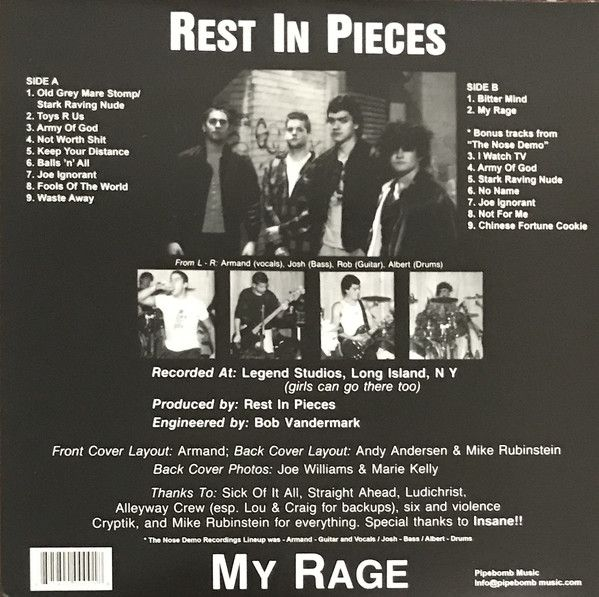 Rest In Pieces - My Rage