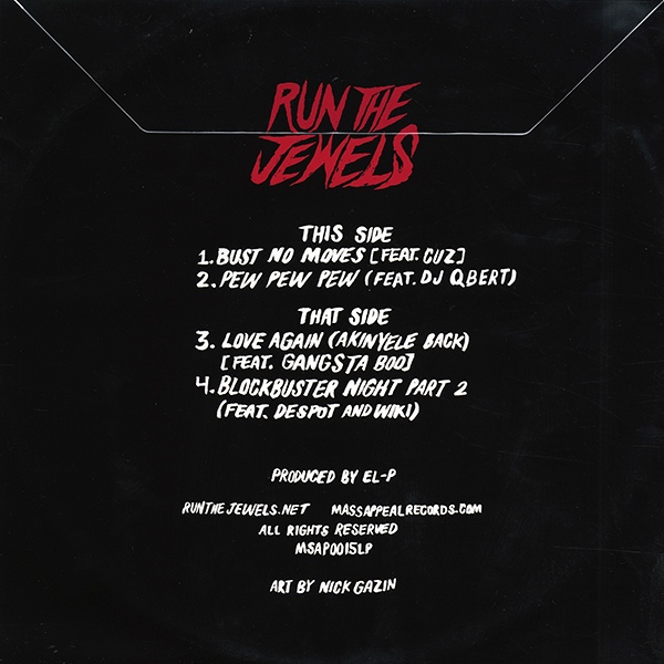 Run The Jewels -Bust No Moves EP