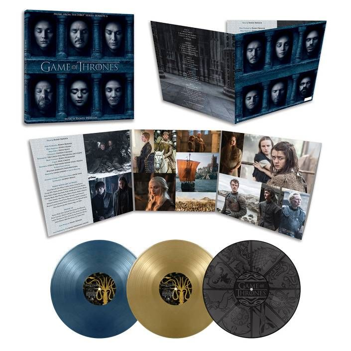 game of thrones season 6 ost colored vinyl. Black Bedroom Furniture Sets. Home Design Ideas