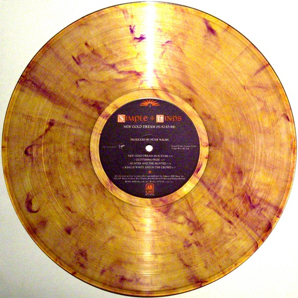 Simple Minds New Gold Dream Colored Vinyl