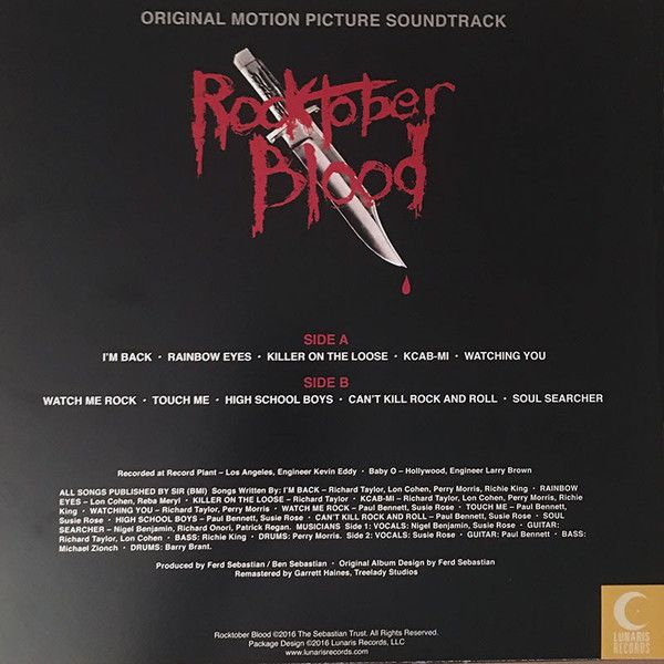 Sorcery  - Rocktober Blood (Original Motion Picture Soundtrack)