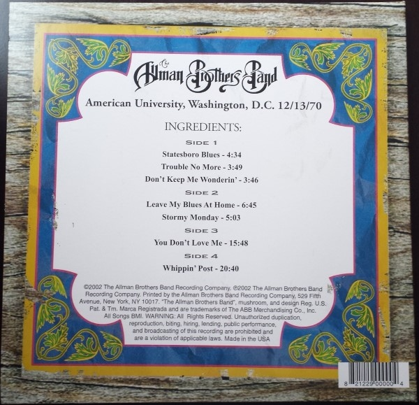 The Allman Brothers Band -Live At American University