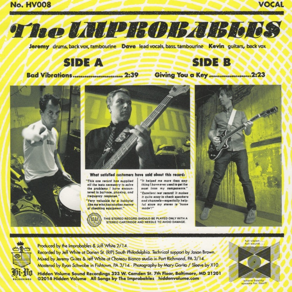 The Improbables - Bad Vibrations