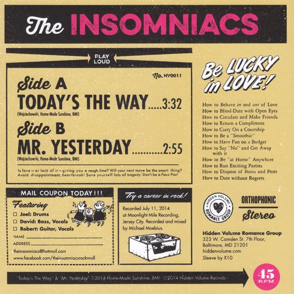 The Insomniacs - Today's The Way