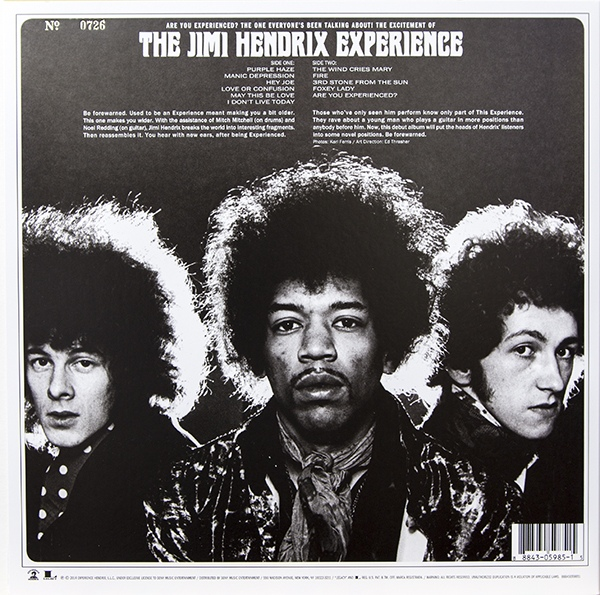 The Jimi Hendrix Experience Are You Experienced Colored