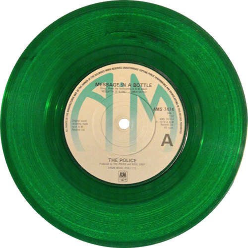 The Police Message In A Bottle Colored Vinyl
