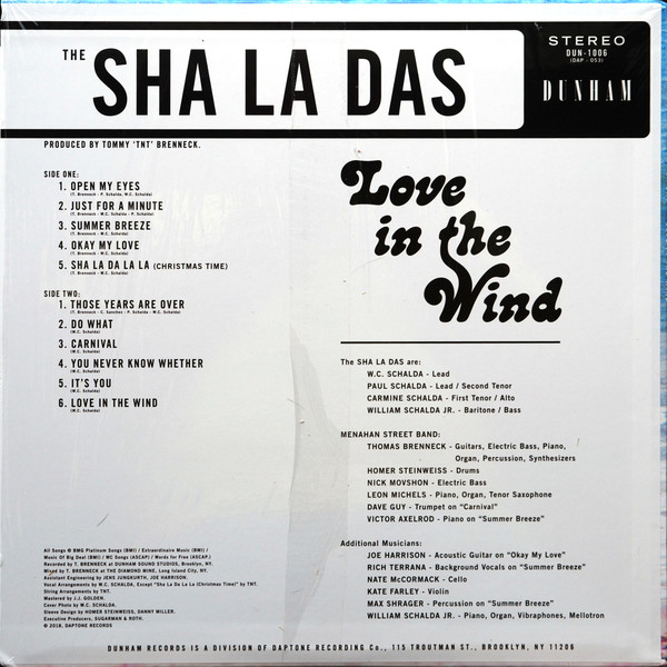 The Sha La Das - Love In The Wind