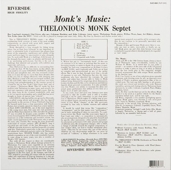 Thelonious Monk Septet -Monk's Music