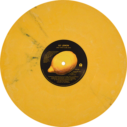 U2 Lemon Colored Vinyl