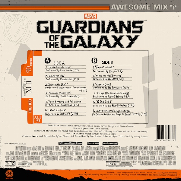 Various - Guardians Of The Galaxy: Awesome Mix Vol. 1
