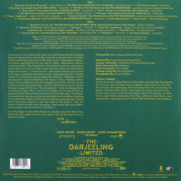 Various - The Darjeeling Limited (Original Soundtrack)