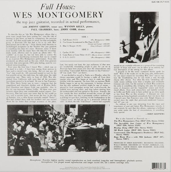 Wes Montgomery -Full House