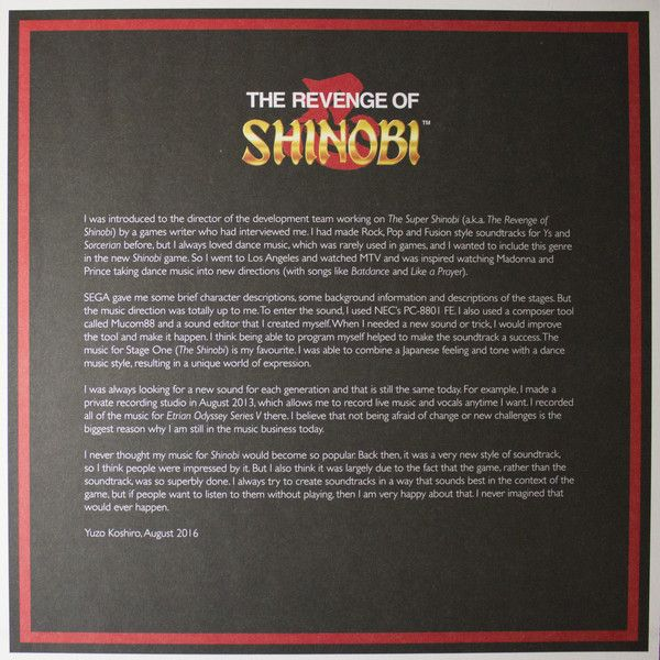 Yuzo Koshiro -The Revenge Of Shinobi