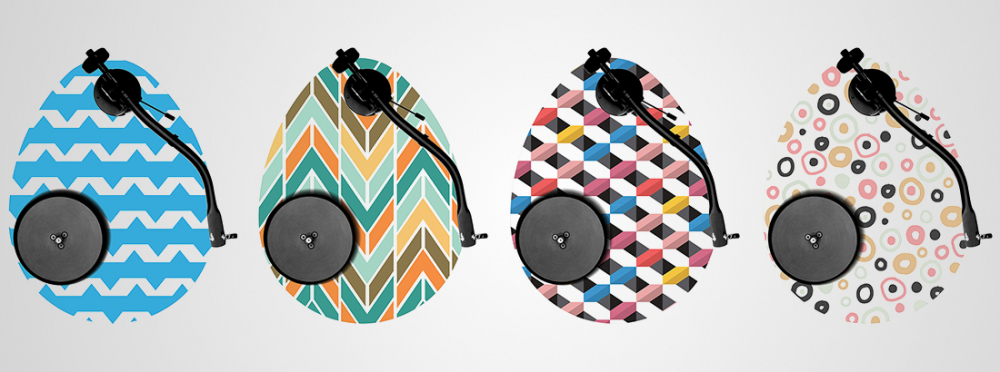 New OVO turntable with customizable egg-shaped plinth