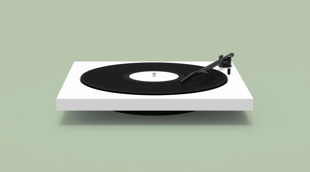 TONE Factory minimalist turntable with Bluetooth cover